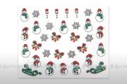 XMAS Glitter Nail Art Sticker